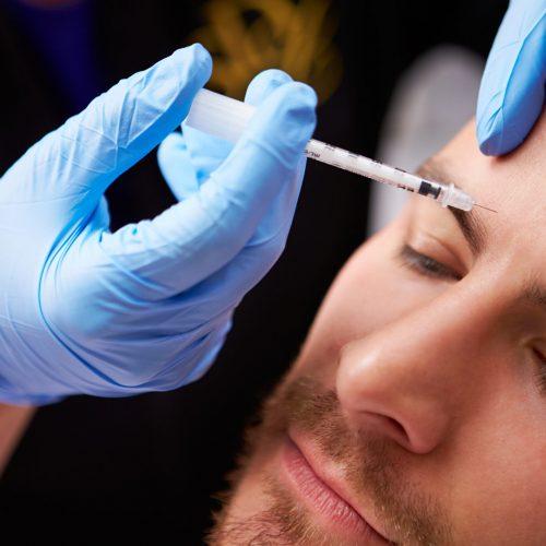 Man,Having,Botox,Treatment,At,Beauty,Clinic